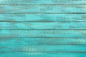 Photo Turquoise wooden background