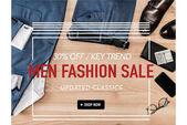Fotografie Nápis-výprodej módy mužů