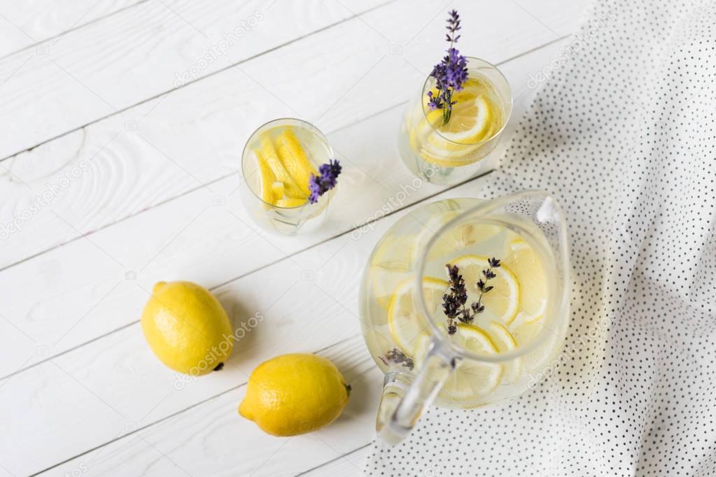 citrus lemonade with lavender