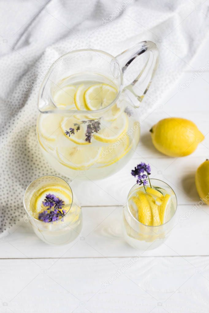 citrus lemonade with lavender