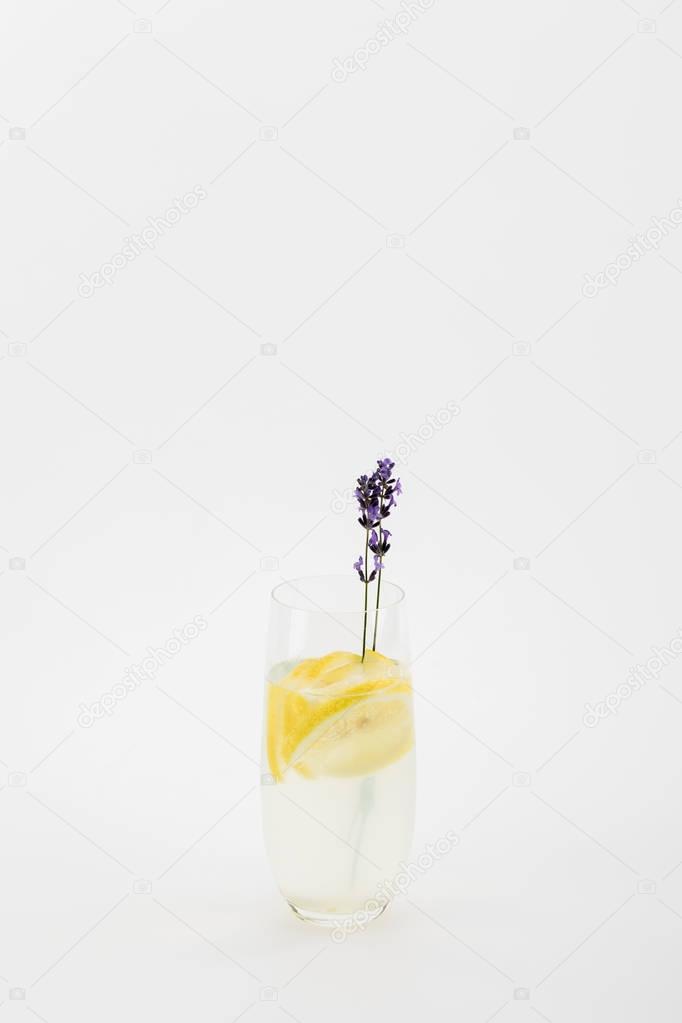 homemade lavender beverage