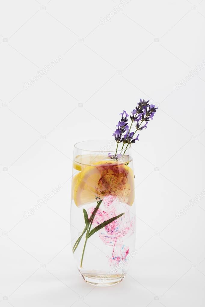 homemade lemonade with lavender