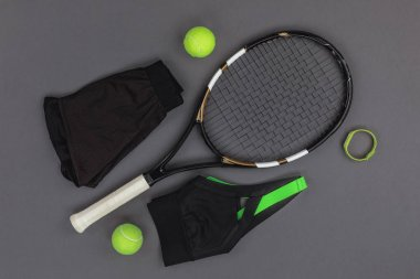 Tennis equipment and sportswear