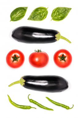 composition of ripe vegetables