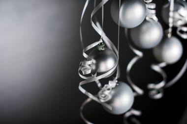 grey christmas balls