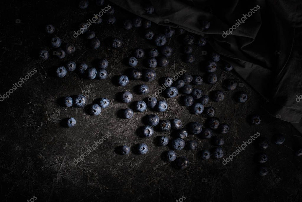 ripe fresh blueberries