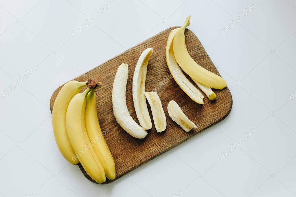 fresh yellow bananas