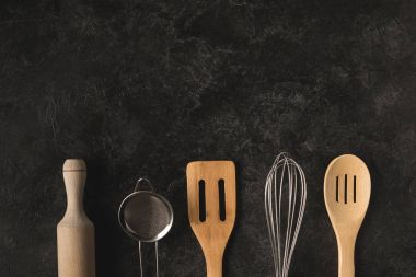 various kitchen utensils