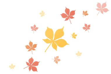 composition of autumnal leaves