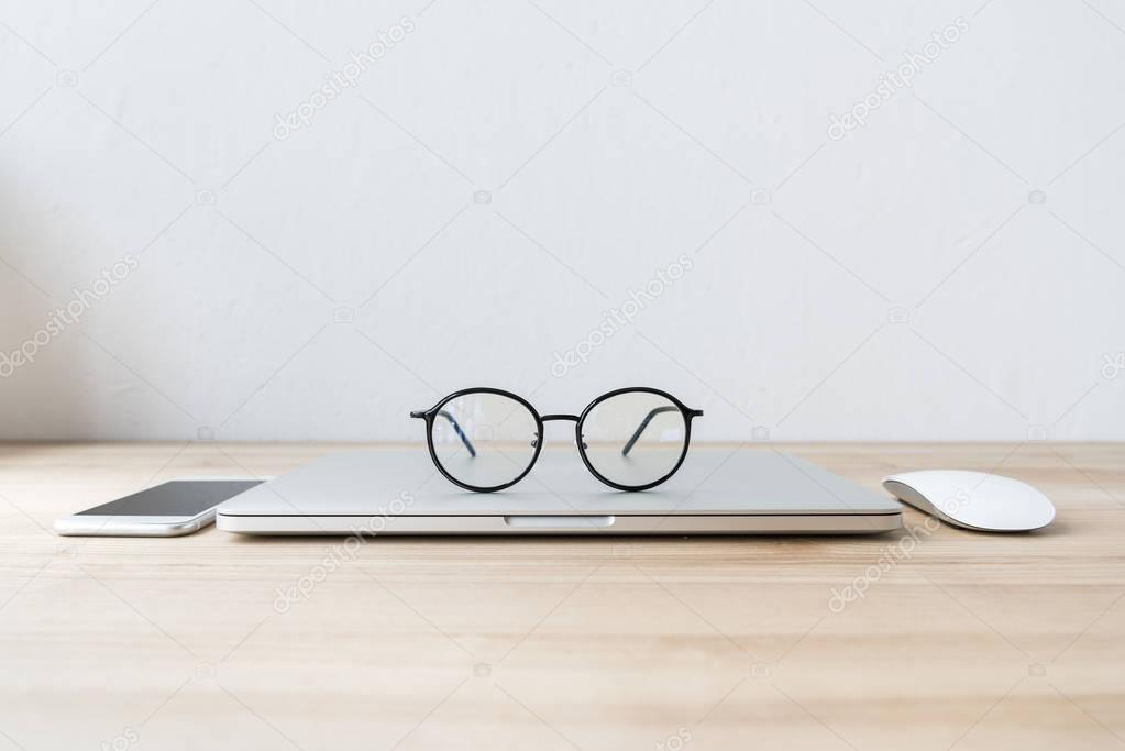 folded laptop