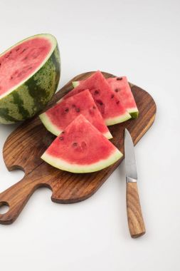 watermelon on cutting board