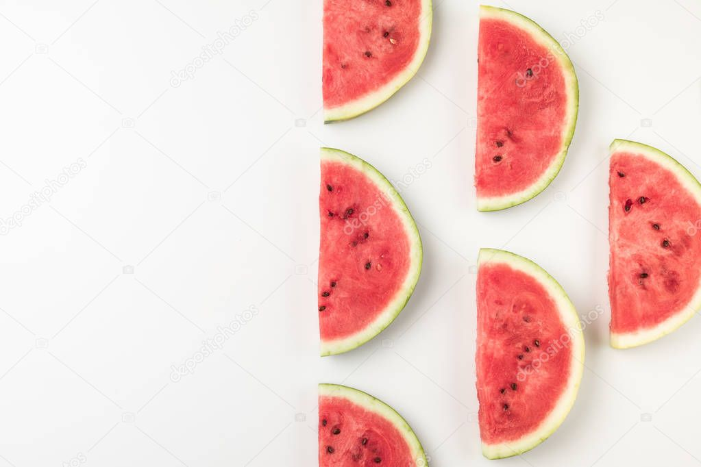 watermelon slices with copy space