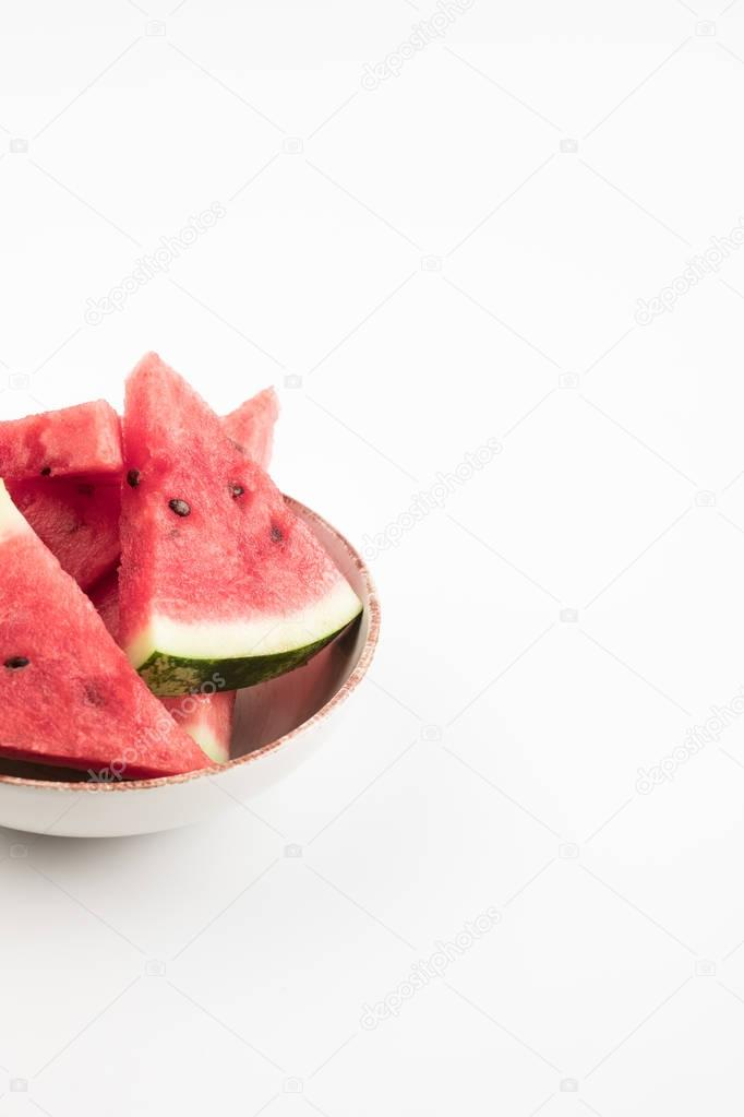 watermelon slices in bowl