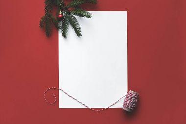 empty christmas card