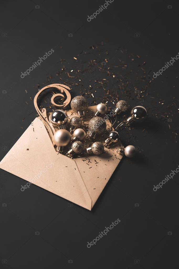 christmas balls in envelope