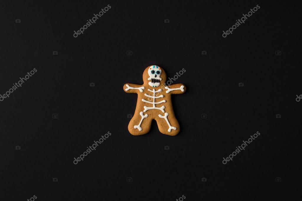 halloween skeleton cookie
