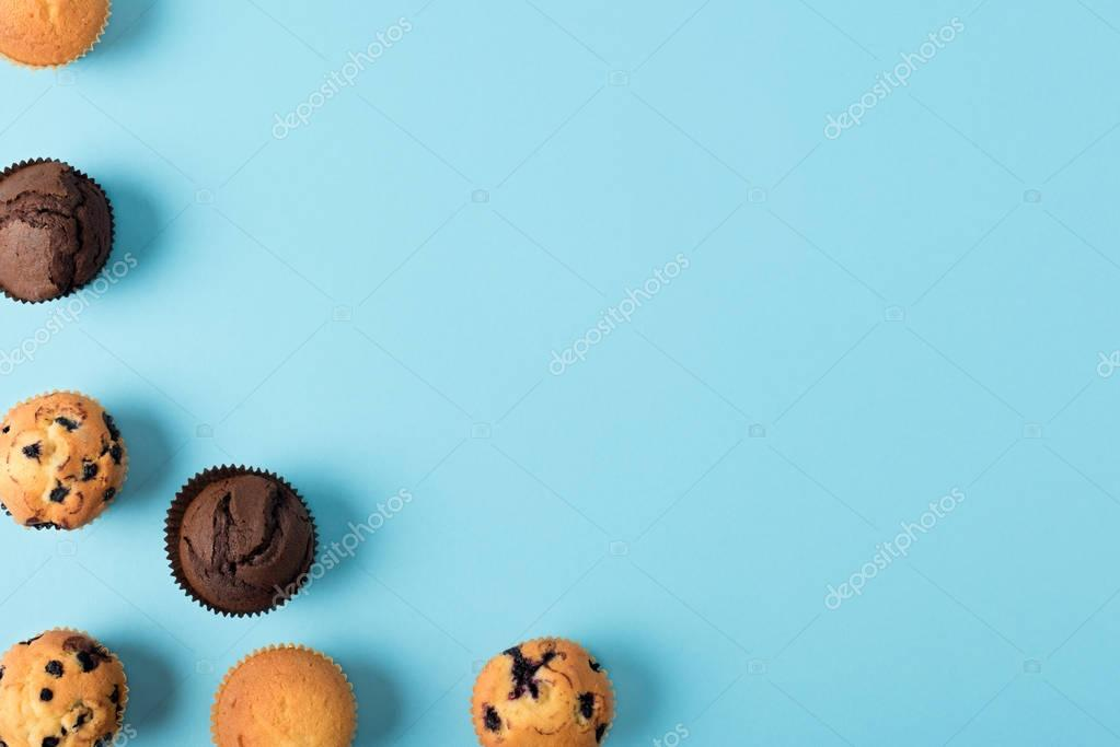 various sweet cupcakes