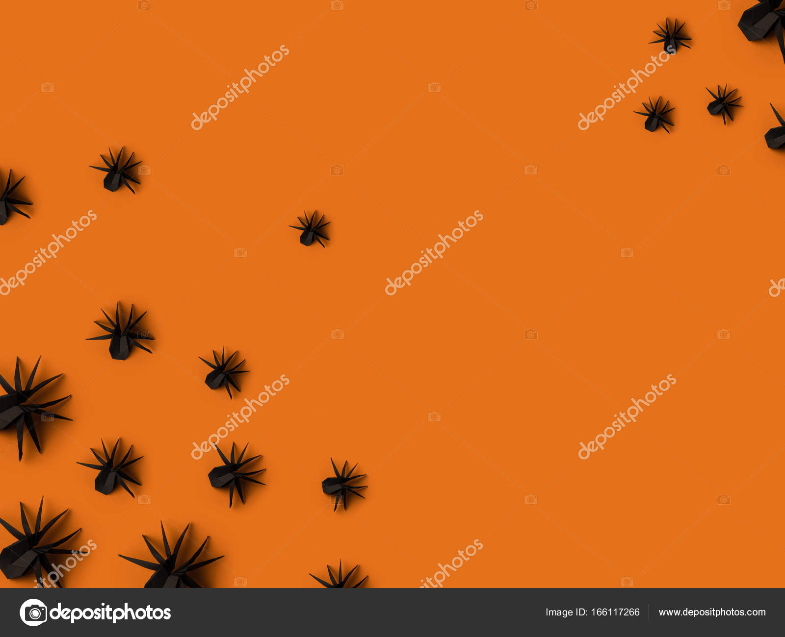 araignées noires origami — photographie antonmatyukha © #166117266