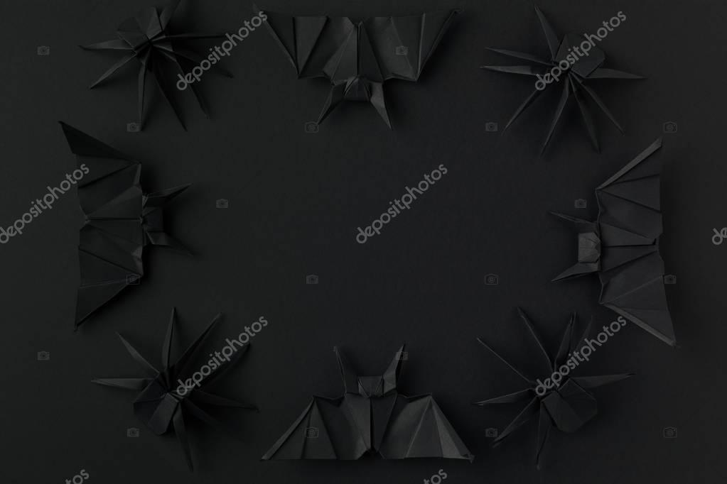 halloween frame with bats and spiders
