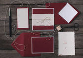 Fotografie composition of holiday invitations