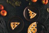 Fotografie Stück Apfelkuchen