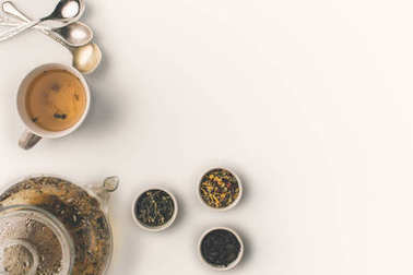 dry herbs and herbal tea