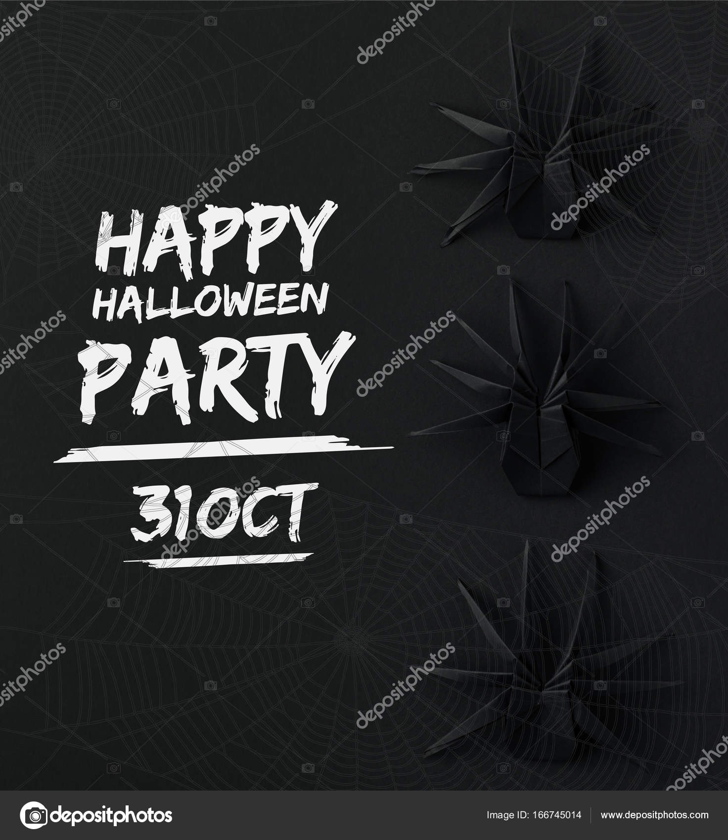 araignées halloween origami — photographie antonmatyukha © #166745014
