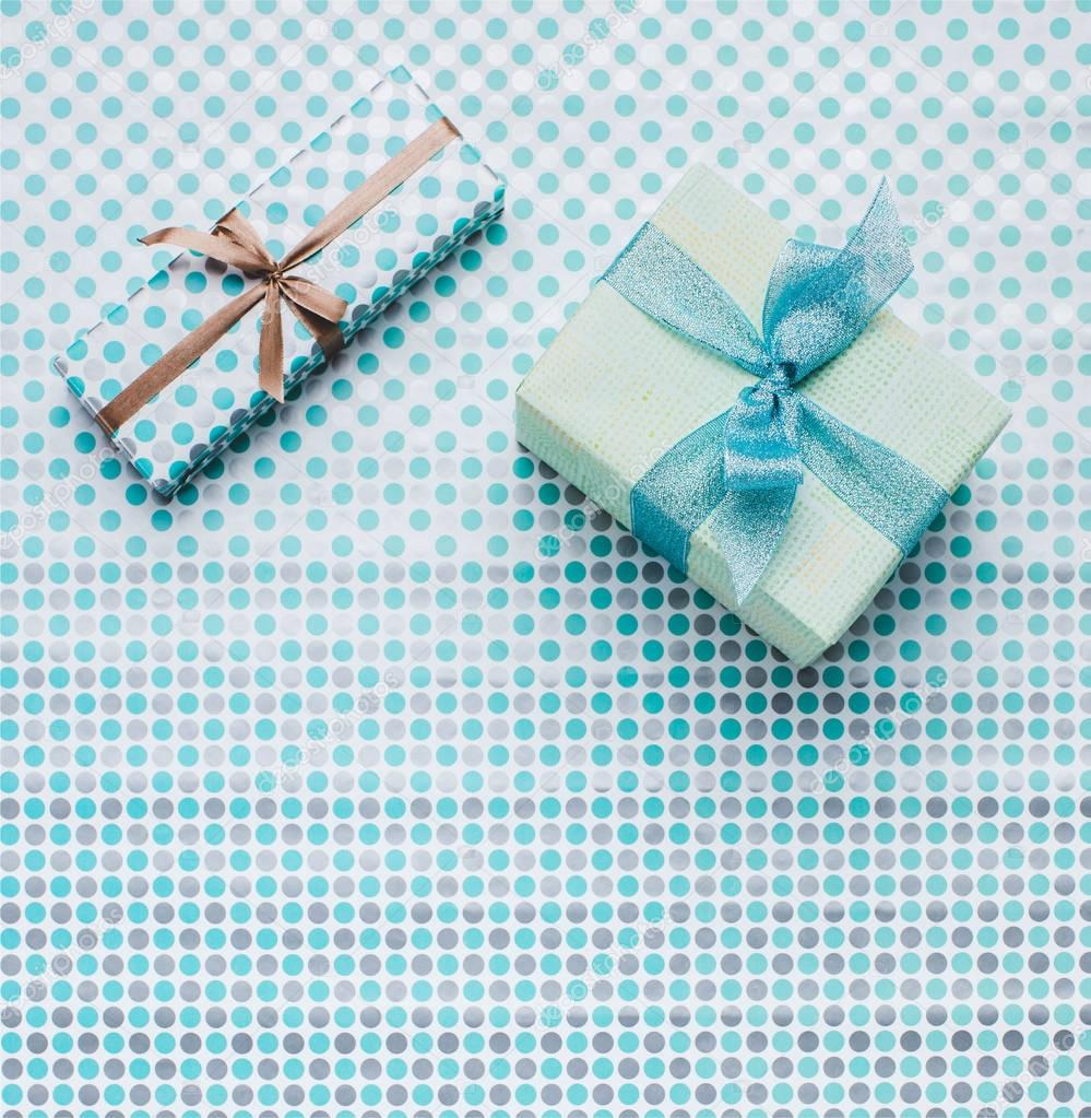 presents on wrapping paper