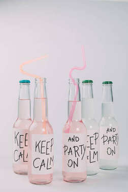 alcoholic beverages in bottles