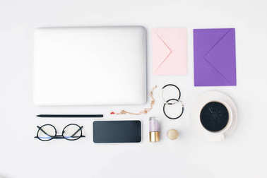 female workplace supplies composition