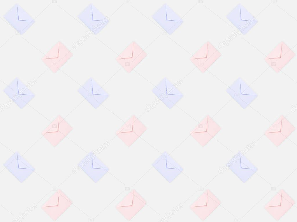 repetitive pattern of envelopes