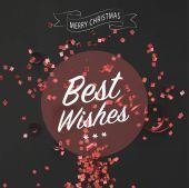 Fotografie Vánoční pozdrav s červeným konfety