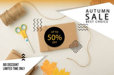 autumn sale concept
