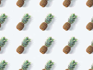 pattern with fresh pineapples