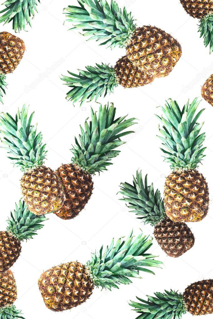 ripe fresh pineapples