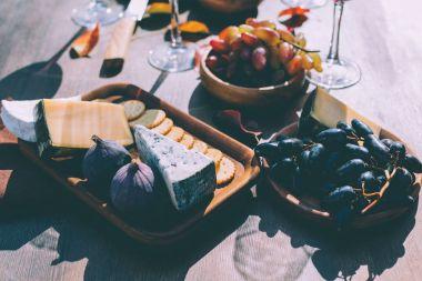 various wine snacks