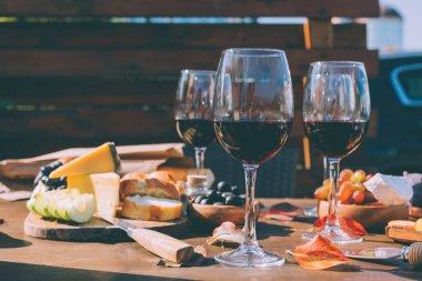 wine and snacks