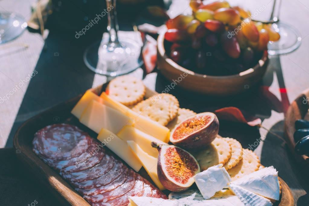various presented snacks
