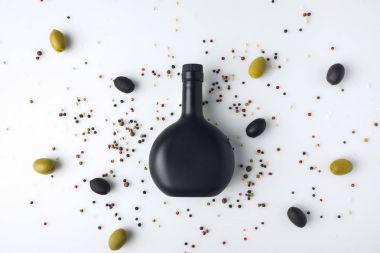 black toned glass bottle