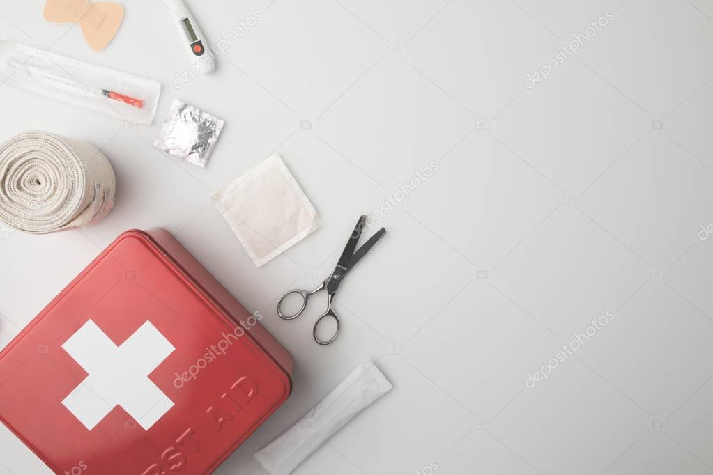 medicine chest with medical supplies