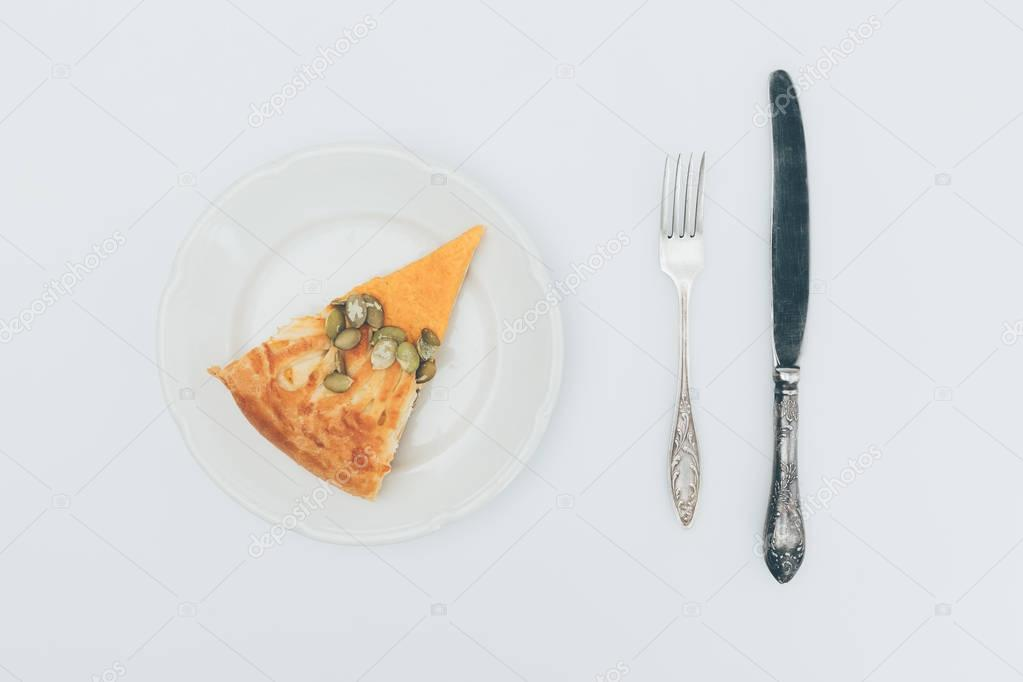 slice of pumkin pie