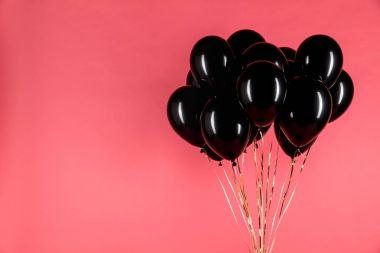 black shiny balloons