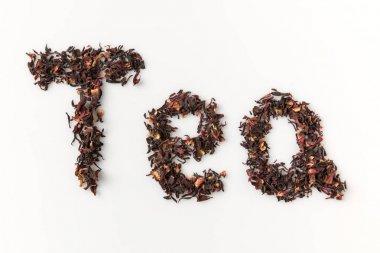 tea lettering