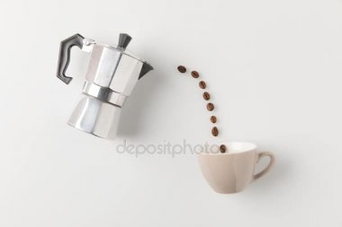 kávová zrna do šálku