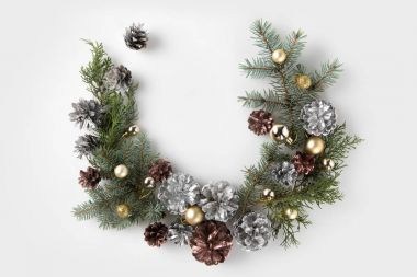 christmas wreath made of fir branches