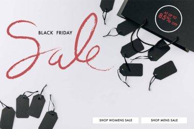 black bag and price tags