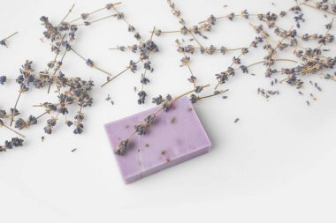 handcrafted soap with lavander flowers