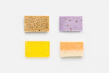 various handcrafted soap
