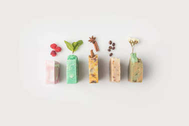 soap with different ingredients