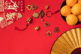 Photo oriental decorations and tangerines